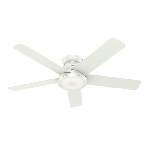 Hunter 59481 54 in. Romulus Fresh White Wifi Ceiling Fan with LED Light and Remote image number 0
