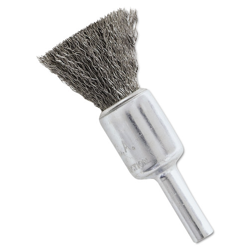 Anderson 06971 1/2 in. x 0.006 in. NS4S Stainless Steel Crimped Wire-End Brush