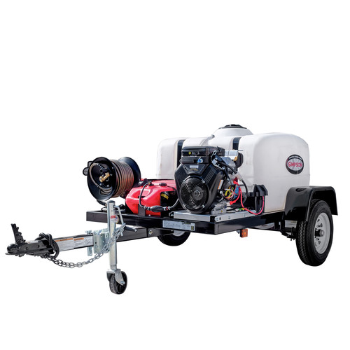 Simpson 95004 Trailer 4200 PSI 4.0 GPM Cold Water Mobile Washing System Powered by VANGUARD image number 0