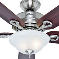 Hunter 53047 52 in. Kensington Brushed Nickel Ceiling Fan with Light image number 1