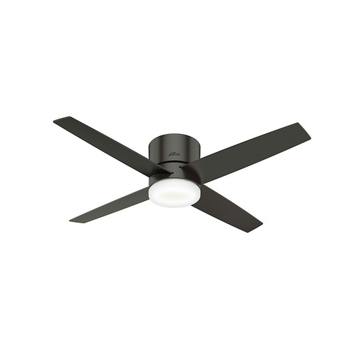 Hunter 59372 54 in. Advocate Wifi Ceiling Fan with Remote and LED Light Kit (Noble Bronze) image number 0