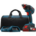 Bosch IDH182WC-101 18V 4.0 Ah Cordless Lithium-Ion EC Brushless 1/4 in. & 1/2 in. Impact Driver Kit