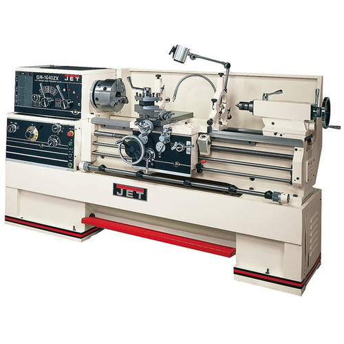 JET GH-1660ZX Lathe with 2-Axis ACU-RITE 200STaper Attachment and Collet Closer Installed image number 0