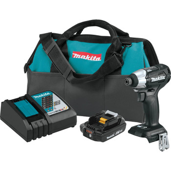 Factory Reconditioned Makita XDT15R1B-R 18V LXT 2 Ah Lithium-Ion Sub-Compact Brushless Cordless Impact Driver Kit