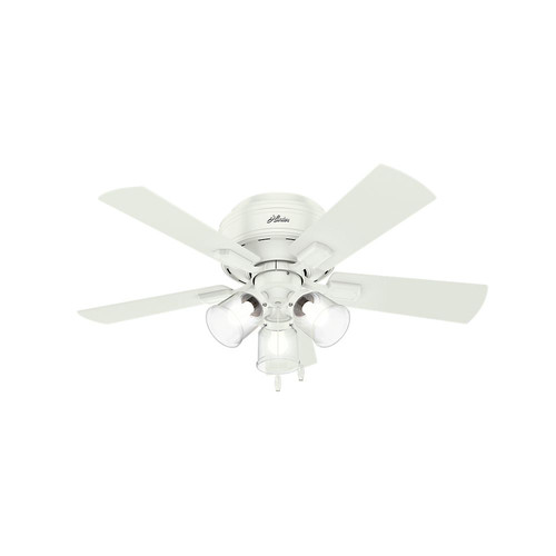 Hunter 52152 42 in. Crestfield Fresh White Ceiling Fan with Light