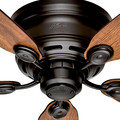 Hunter 51061 42 in. Low Profile IV New Bronze Ceiling Fan image number 1