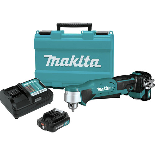 Makita AD03R1 12V MAX CXT 2.0 Ah Lithium-Ion Cordless 3/8 in. Right Angle Drill Kit