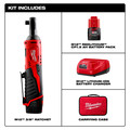 Milwaukee 2457-21P M12 3/8 in. Ratchet with FREE REDLITHIUM CP1.5 Ah Battery image number 7