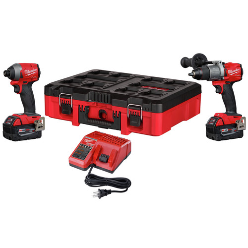 Milwaukee M18 Drill/Driver Kit + 2 x 5Ah Batteries + Charger + Tool Box