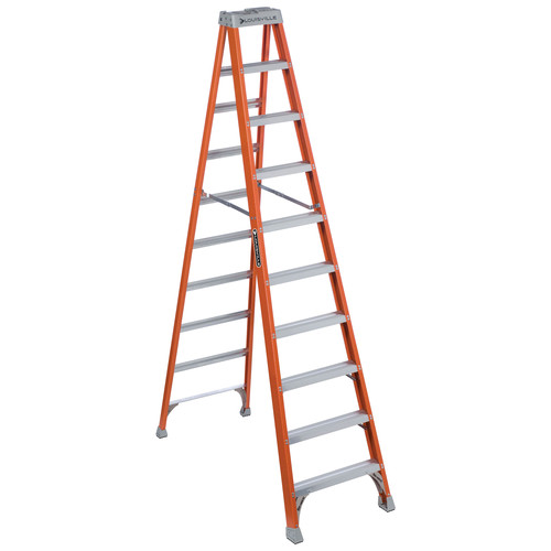 Louisville FS1510 10 ft. Type IA Duty Rating 300 lbs. Load Capacity Fiberglass Step Ladder