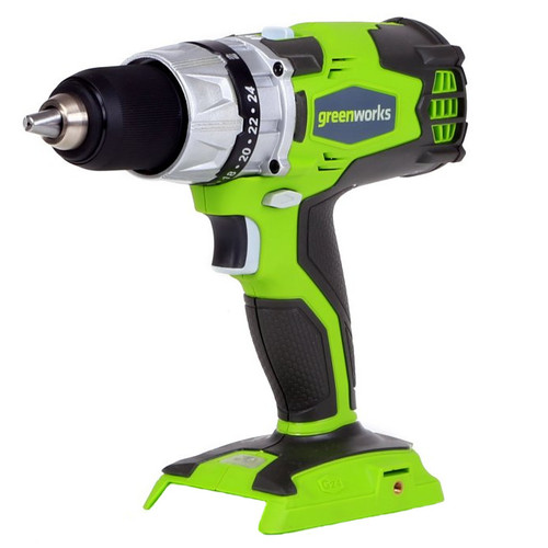 Greenworks 32032A 24V Cordless Lithium-Ion DigiPro 2-Speed Compact Drill (Bare Tool)