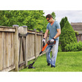Black & Decker LST522 20V MAX 2.5 Ah Cordless Lithium-Ion 12 in. 2-Speed String Trimmer/Edger Kit image number 3