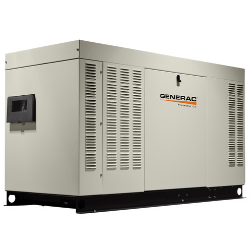 Generac RG04854ANAC Protector QS 120/240V 5.4L 48 kW Single Phase Liquid-Cooled Aluminum Automatic Standby Generator (LP/NG) - CARB image number 0