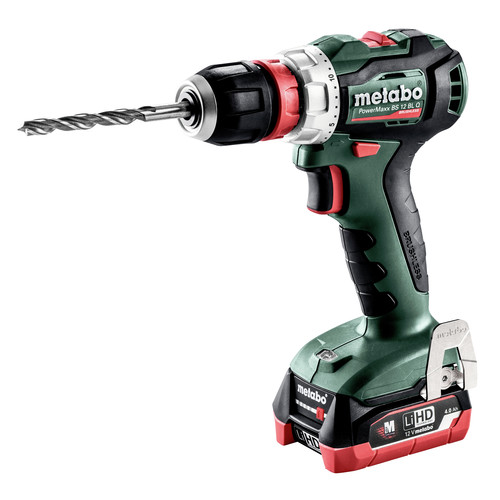 Metabo 601039520 12V PowerMaxx BS 12 BL Q LiHD Brushless Compact 3/8 in. Cordless Drill Driver Kit (4 Ah) image number 0