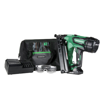 Metabo HPT NT1865DMASM 18V 15 Gauge Cordless Brushless Lithium-Ion Finish Nailer Kit