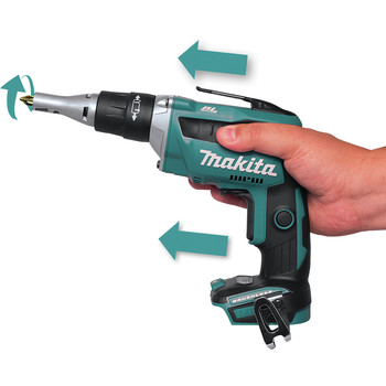 Makita XSF03TX2 18V LXT Lithium-Ion Brushless Cordless 4,000 RPM Drywall Screwdriver Kit with Autofeed Magazine (5 Ah) image number 3
