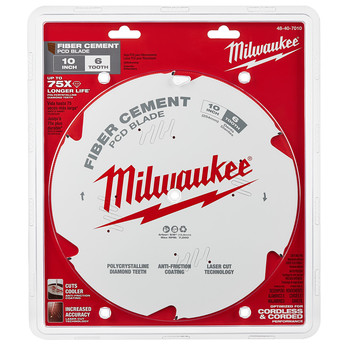 Milwaukee 48-40-7010 10 in. PCD/Fiber Cement Circular Saw Blade image number 0