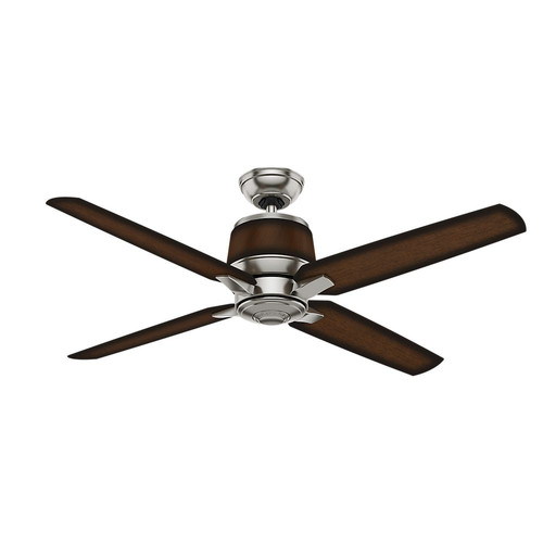 Casablanca 59123 Aris 54 in. Contemporary Brushed Nickel Mayse Plastic Outdoor Ceiling Fan