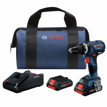 Bosch GSB18V-535CB25 18V Lithium-Ion Connected-Ready Compact Tough 1/2 in. Cordless Hammer Drill Kit (4 Ah)