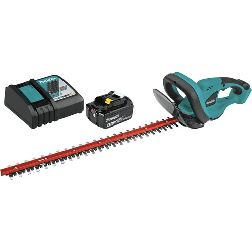 Makita XHU02M1 18V LXT 4.0 Ah Cordless Lithium-Ion 22 in. Hedge Trimmer Kit image number 0