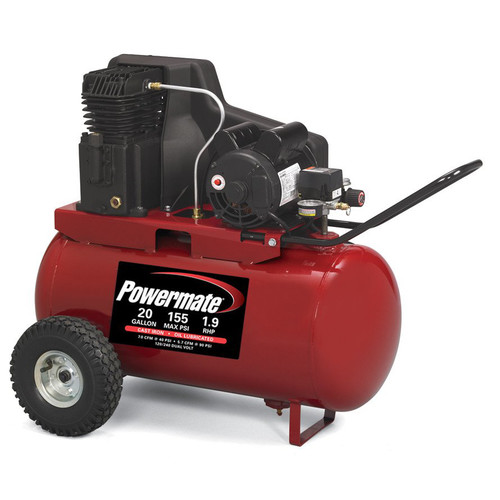 Powermate PPA1982054 1.9 HP 20 Gallon Cast-Iron Twin Cylinder Pump