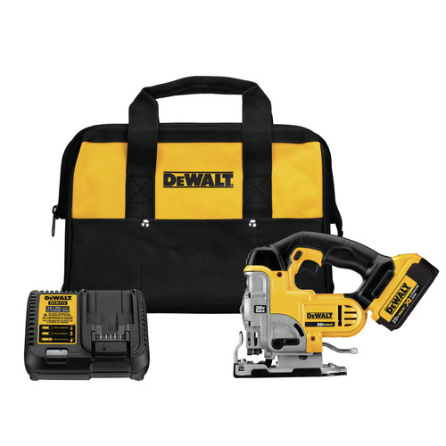 Dewalt DCS331M1 20V MAX Lithium-Ion 3000 SPM Cordless Jigsaw Kit (3 Ah) image number 0