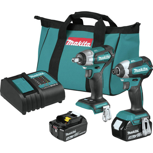 Makita XT284SX1 18V LXT Lithium-Ion Brushless Cordless Impact Driver / Impact Wrench Combo Kit (3 Ah) image number 0