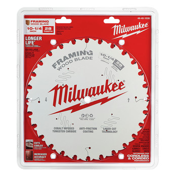 Milwaukee 48-40-1038 10-1/4 in. 28T Framing Circular Saw Blade image number 1