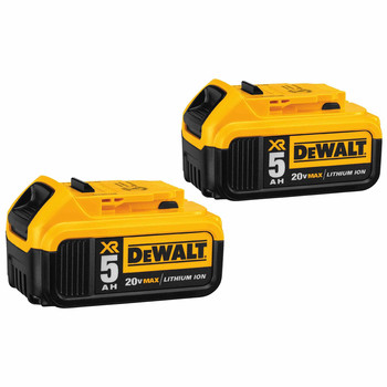 Dewalt DCB205-2CK 20V MAX 5 Ah Lithium-Ion Battery (2-Pack) and Charger Starter Kit image number 1