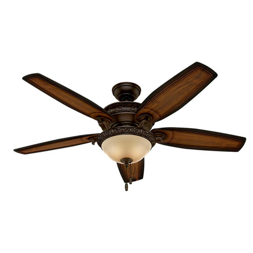 Hunter 54014 Prestige 54 in. Claymore Brushed Cocoa Ceiling Fan with Light image number 0
