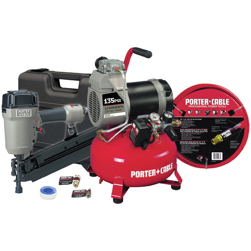 Porter-Cable CFFR350CR | Round-Head Framing Nailer and Compressor Combo Kit | Tyler Tool