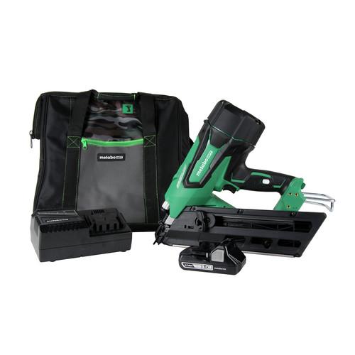 Metabo HPT NR1890DCSM 3-1/2 in. 18V Brushless Clipped Head Framing Nail Gun Kit image number 0