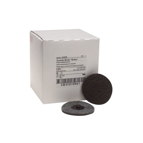 3M 7514 Scotch-Brite Roloc Surface Conditioning Disc Gray 3 in. Super Fine (25-Pack) image number 0