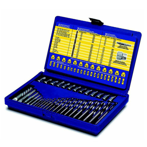Irwin Hanson 11135ZR 35-Piece Screw Extractor and Drill Bit Set image number 0