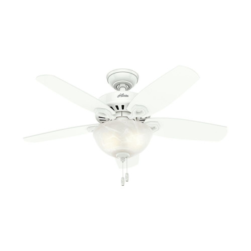 Hunter 52217 42 in. Builder Small Room Snow White Ceiling Fan with Light image number 0