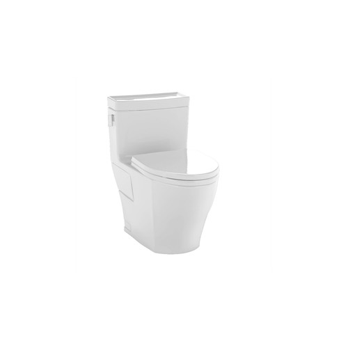 TOTO MS624214CEFG#01 Legato Elongated 1-Piece Floor Mount High Efficiency Toilet (Cotton White)