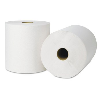 Tork 218004 Ecosoft Hardwound Natural White Roll Towels, 800 ft. x 8 in., 6 Rolls/Carton image number 0