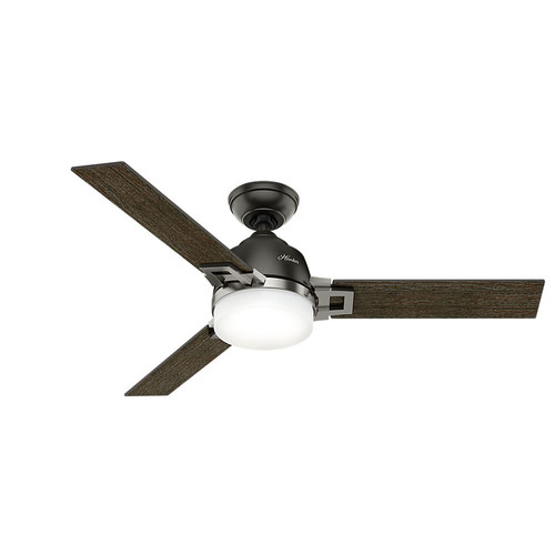 Hunter 59219 48 in. Leoni Noble Bronze and Brushed Nickel Ceiling Fan with Light and Remote image number 0