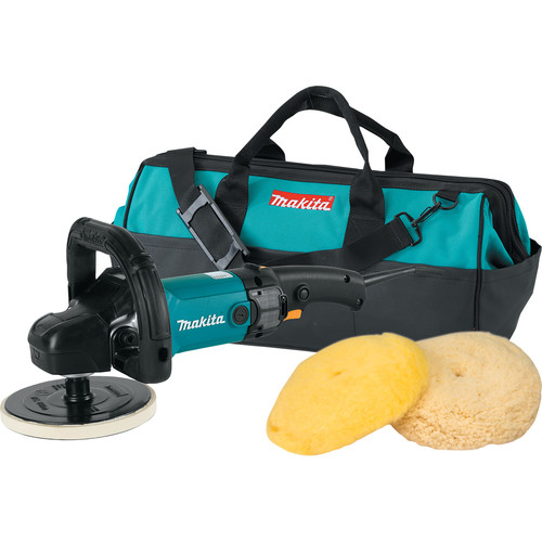 Makita 9237CX3 7 in. Polisher Loop Handle with Wool Pads and Bag