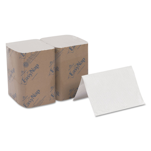 Dixie Ultra 3213000 6-Piece/Carton, 500-Sheet/Pack 6-1/2 in. x 9-7/8 in. 2-Ply Interfold Napkin Refills - White image number 0