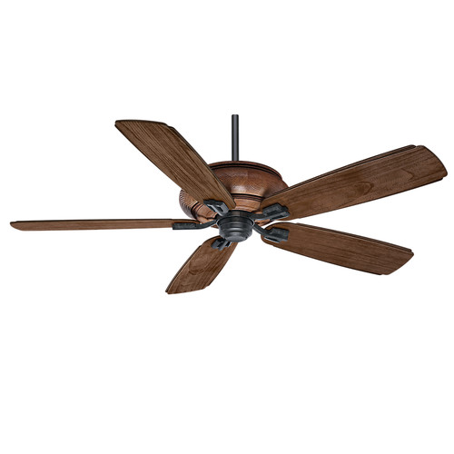 Casablanca 55051 60 in. Heathridge Aged Steel Ceiling Fan with Light and Remote image number 1