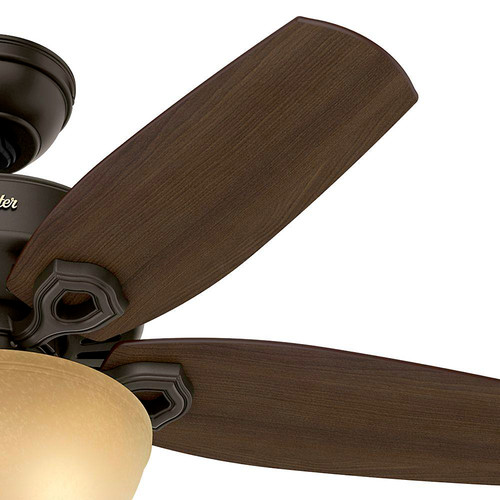 Hunter 52218 42 in. Builder Small Room New Bronze Ceiling Fan with Light image number 2
