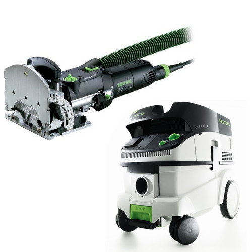 Festool DF 500 Q Domino Mortise and Tenon Joiner Set with CT 26 E 6.9 Gallon HEPA Mobile Dust Extractor