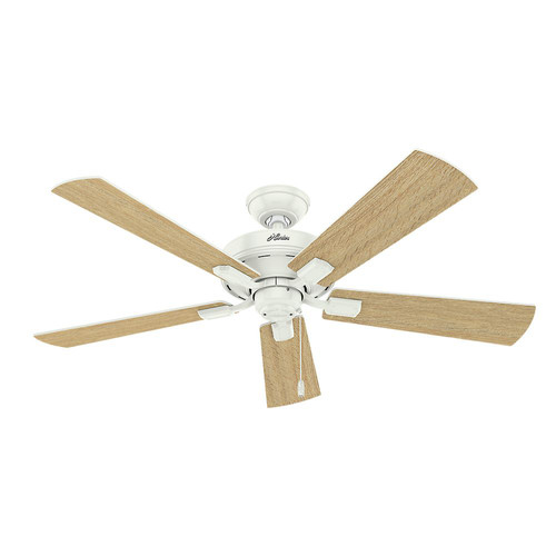 Hunter 54204 52 in. Crestfield Fresh White Ceiling Fan with Light image number 3