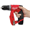 Milwaukee 2505-24-CPO M12 REDLITHIUM CP 1.5 Ah Lithium-Ion Compact Battery (2-Pack) plus Shockwave 15-Piece Tin Kit plus M12 FUEL Lithium-Ion 3/8 in. Cordless Installation Drill image number 9