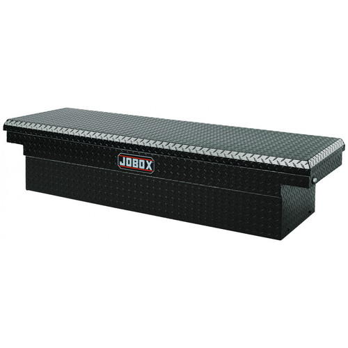 JOBOX PAC1580002 Aluminum Single Lid Full-size Crossover Truck Box (Black) image number 0