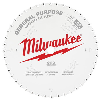 Milwaukee 48-40-1220 12 in. 44T General Purpose Circular Saw Blade image number 0