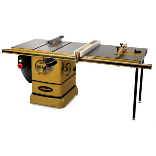 Powermatic PM2000 5 HP 10 in. Three Phase Left Tilt Table Saw with 50 in. Accu-Fence, Rout-R-Lift and Riving Knife