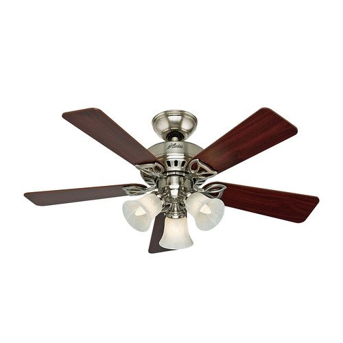 Hunter 53079 42 in. Beacon Hill Brushed Nickel Ceiling Fan with Light image number 0