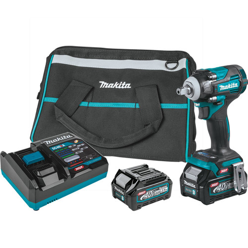 Makita GWT05D 40V Max Brushless Lithium-Ion 1/2 in. Cordless 4-Speed Impact Wrench with Detent Anvil Kit (2.5 Ah) image number 0